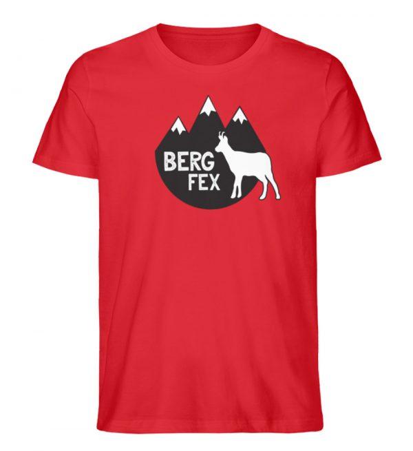 Bergfex Gämse Berg T-Shirt - Herren Premium Organic Shirt-6882