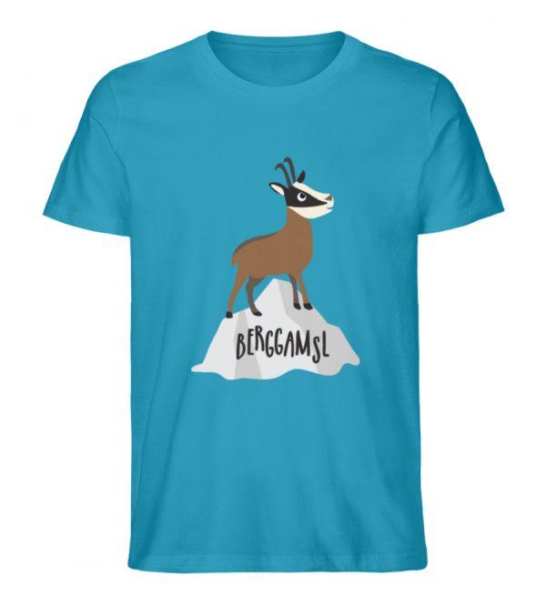 Gams Gemse Gämse Berggamsl Berggams - Herren Premium Organic Shirt-6885