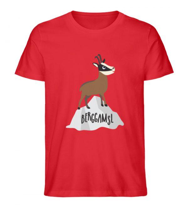Gams Gemse Gämse Berggamsl Berggams - Herren Premium Organic Shirt-6882