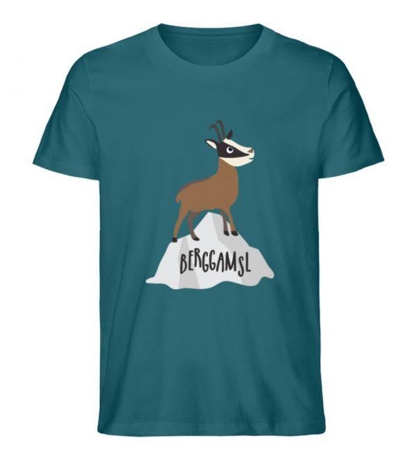 Gams Gemse Gämse Berggamsl Berggams - Herren Premium Organic Shirt-6889