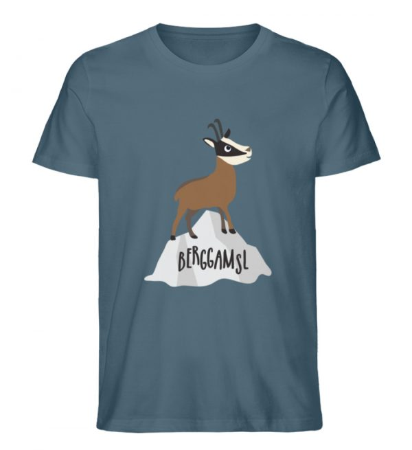 Gams Gemse Gämse Berggamsl Berggams - Herren Premium Organic Shirt-6895