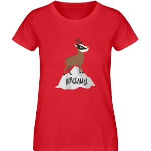 Berg Gemse Gämse Gams - Damen Premium Organic Shirt-6882